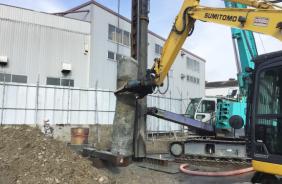 横須賀成正杭撤去工事 ゴンベア基礎