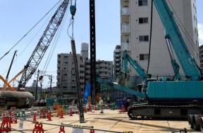 新綱島駅前再開発新築工事